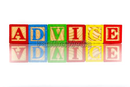 closeup advice wording reflection