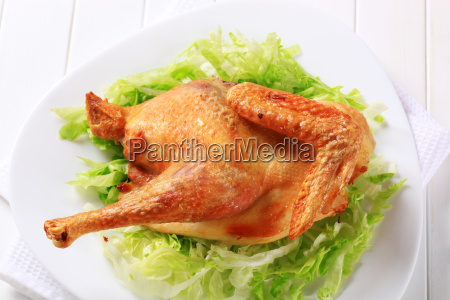 roasted chicken with lettuce