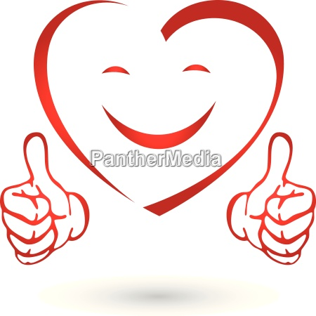 heart with hands heart smile logo