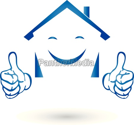 real estate logo house with hands