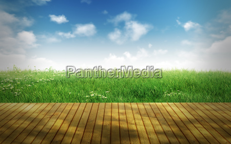 empty wooden floor for display montages