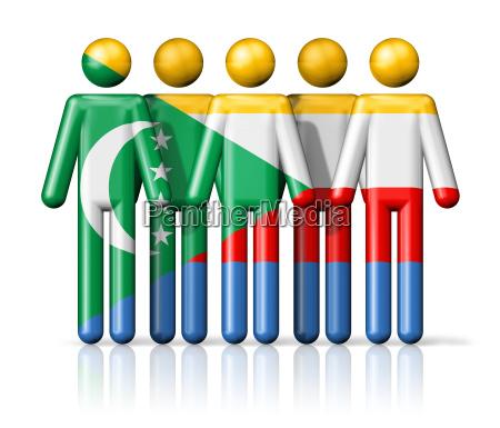 flag of comoros on stick figure
