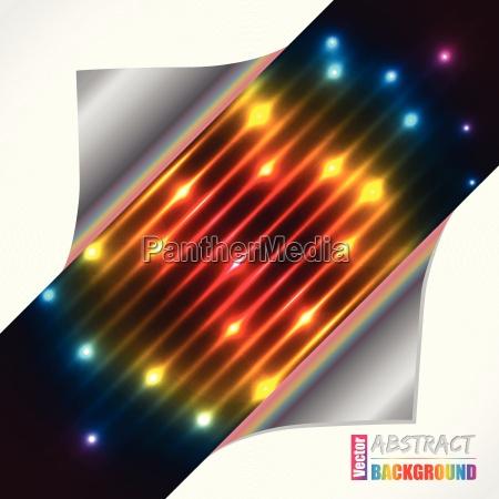 abstract rainbow plasma laser brochure design