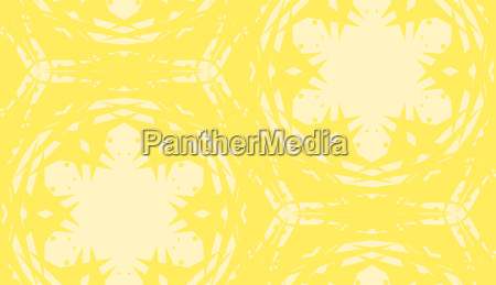 repeating yellow kaleidoscope pattern