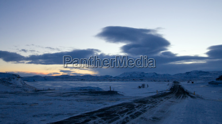 dawn over lake myvatn