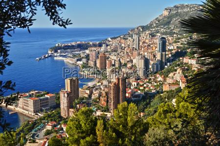 view of the city of monaco