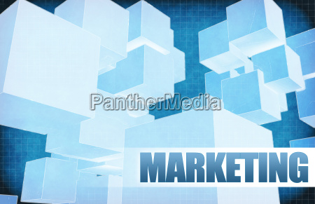 marketing on futuristic abstract