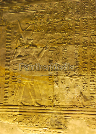 reliefs of egyptian hieroglyphs in the
