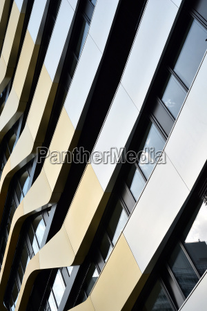 facade of an office building in