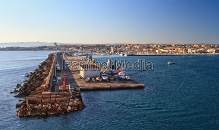 sardinia harbor in porto torres