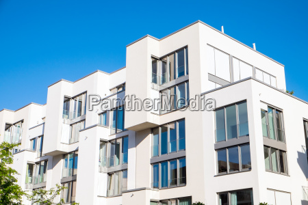 white modern residential complex in berlin