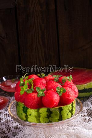 cooled watermelon pie