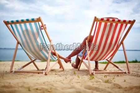 relaxing sunbathers