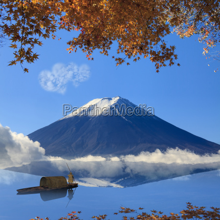 image of sacred mountain of fuji