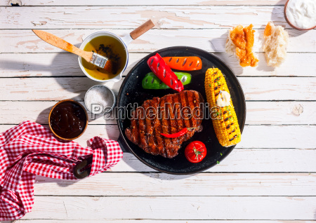 marinated spicy grilled rib eye beef