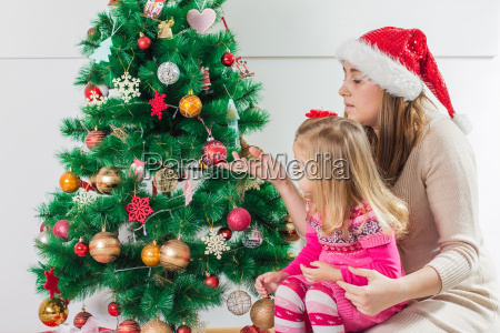 christmas happy family open holidays gift