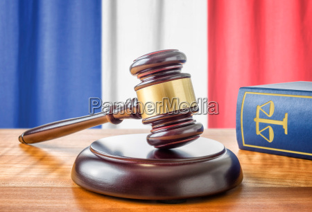 gavel and law book france