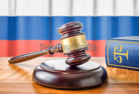 gavel and law book russia