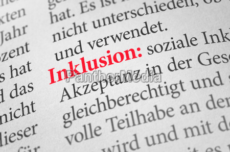 dictionary with the term inclusion