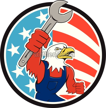 american bald eagle mechanic spanner circle