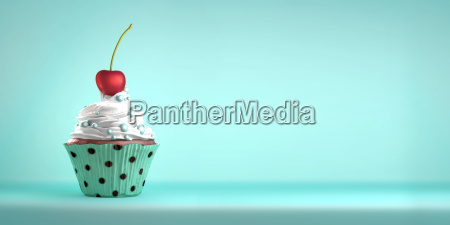 delicious, cupcake, topped, with, a, cherry - 14425489