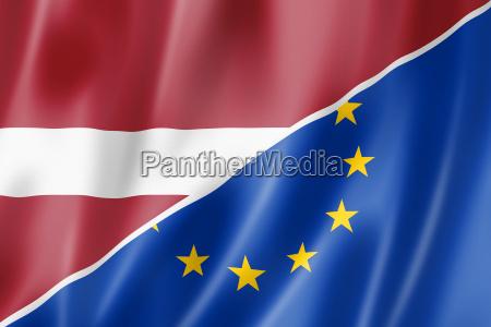 latvia and europe flag