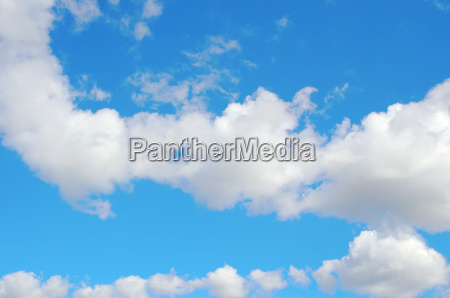 beautiful blue sky with clouds air