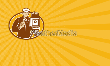 business card photographer vintage camera front