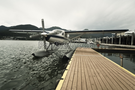 seaplane at dock in juneau alaska