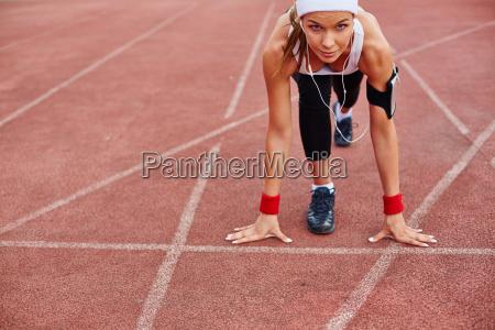girl on racetrack