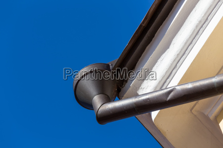 rain gutters on old home