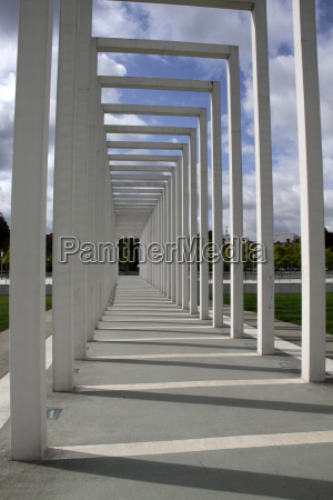 portico on the floating meadow in