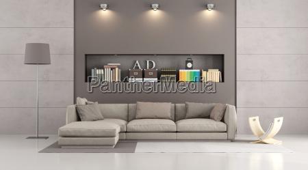 modern sofa in a contemporary livingroom
