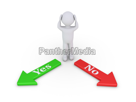 person between yes and no