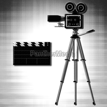 camera tripod over white