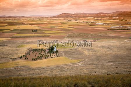 rural landscape around consuegra castile la