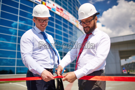 opening newly built construction
