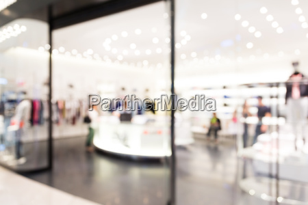 blur view of shopping mall background