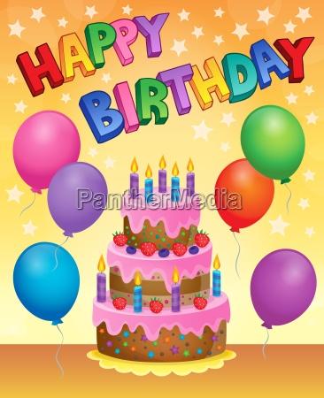 birthday cake theme image 9