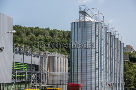 silos filled with chemicals