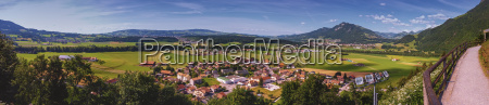 panoramic view of gruyeres area fribourg
