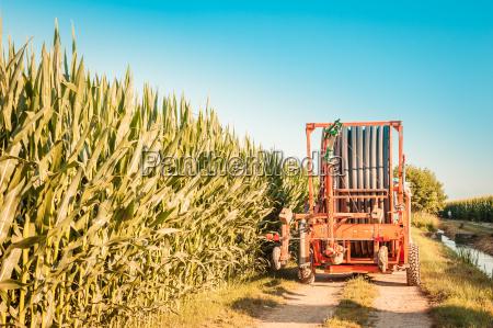 irrigation machine in the field