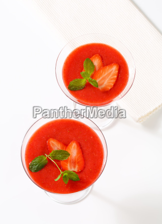 chilled strawberry puree