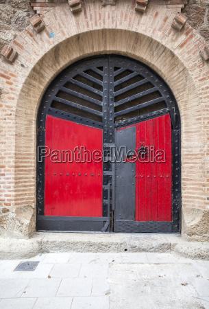arched medieval door