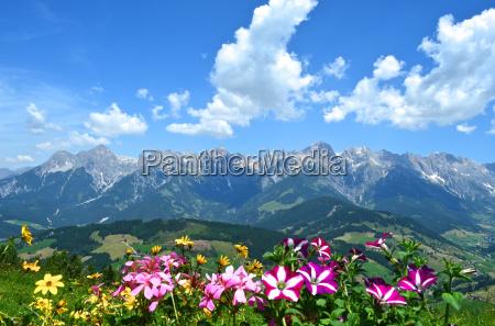 fantastic views of the hochkoenig massif