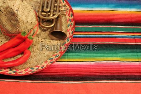 mexico poncho del sombrero blanco chile