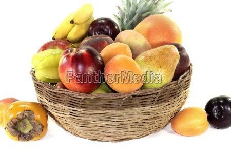 fruit, basket, with, various, colorful, fruits - 14470001
