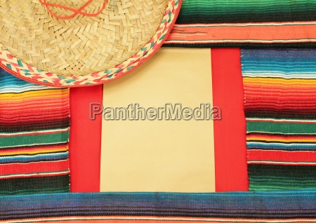 mexico fiesta poncho rug in bright