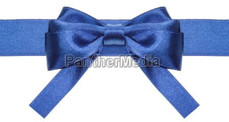 symmetric blue bow with square cut