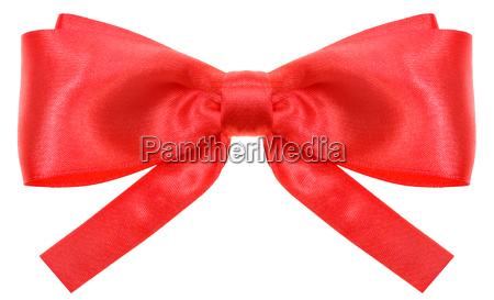 symmetric red ribbon bow with square